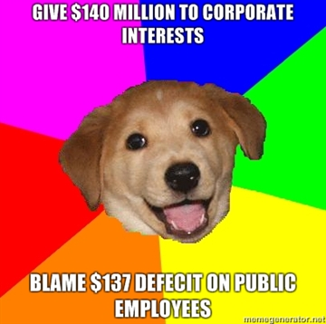 Give-140-Million-To-Corporate-Interests-Blame-137-Defecit-on-Public-Employees