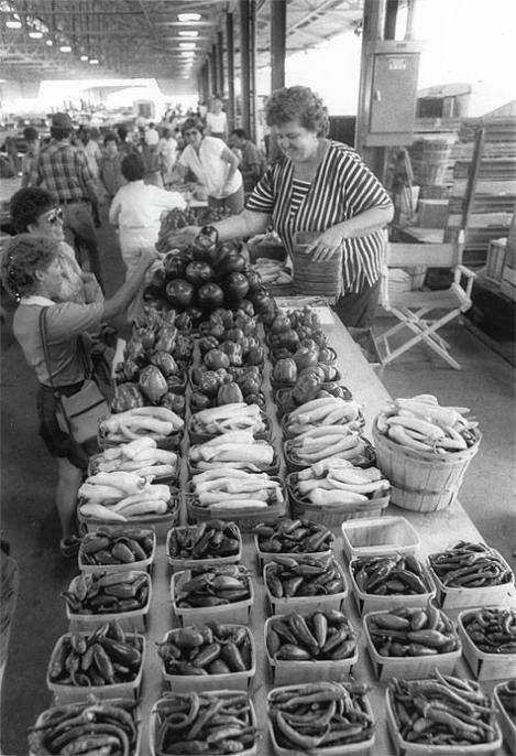 Though still around today, farmers markets were more common place and visited routinely when I was growing up in the 1950's