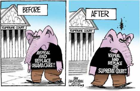 OBAMACARE GOP Before-After-SCOTUS