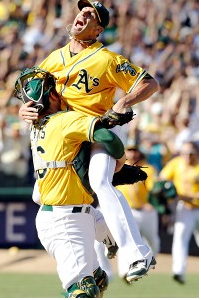 A's win the American League West Title with one of the greatest comebacks in baseball.