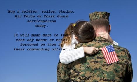 Hug a soldier