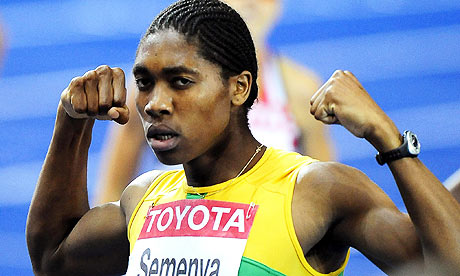 Women's (?) track and field star Caster Semenya.  Is she or isn't he?