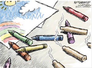 crayons before bullets
