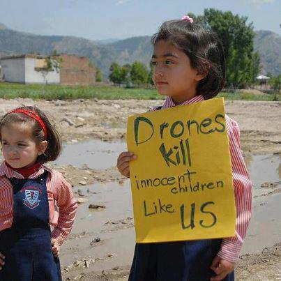 Drones kill innocent children like us