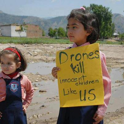 Drones kill innocent children like us
