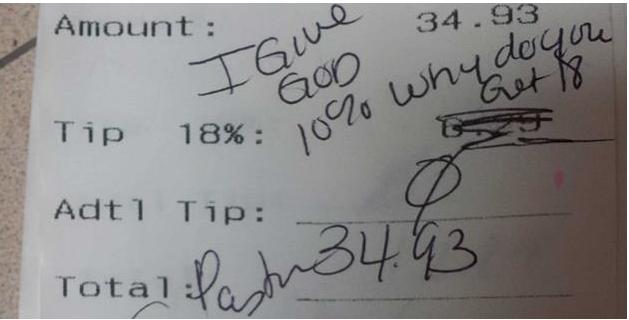 pastor's receipt
