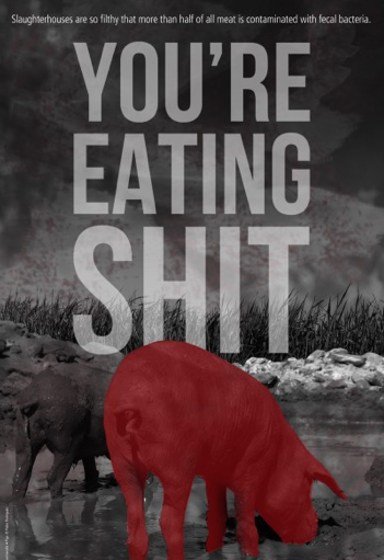you're eating shit