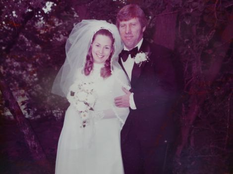 Our wedding day - Augsut 28th  1976
