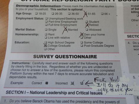 Survey questionaire I