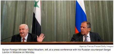 syrian and russian foreign ministers